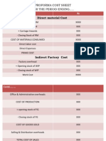 Cost Sheet Problems