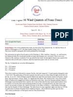 The 9 Wind Quintets of Franz Danzi
