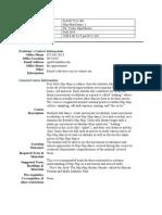 UT Dallas Syllabus for danc2331.001.11f taught by Venus Reese (vor031000)