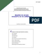 Adição Nucleofílica na Carbonila (impressão) [Modo de Compatibilidade]