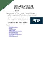 MODELO DE LABORATÓRIO DE INFORMÁTICA PARA ESCOLAS