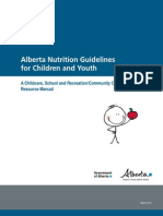 Alberta Nutrition Guidelines for Children and Youth 2011