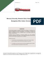 Mercury - Alarm & Remote Start Wiring - Copyright © 2004-2006 - 12 Volt Resource LLC