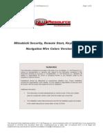 Mitsubishi - Alarm & Remote Start Wiring - Copyright © 2004-2006 - 12 Volt Resource LLC
