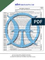 Bio Medical IEEE 2011 Project List @ Hades InfoTech