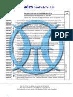 Embedded IEEE 2011 Project List @ Hades InfoTech