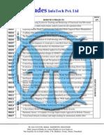 Robotics IEEE 2011 Project List @ Hades InfoTech