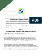 CartaDasCidadesEuropeiasParaA Sustentabilidade