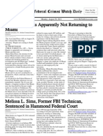 August 29, 2011 - The Federal Crimes Watch Daily