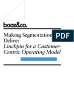 BoozCo Segmentation Customer Centric Operating Model
