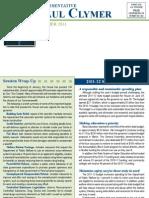 Rep. Clymer Summer 2011 Newsletter