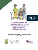 Chihuahua La Educacion en Valores