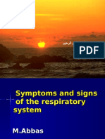 Symtoms and Signs of the Respiratory System