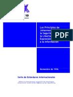 Los Principios de Johannerburgo sobre la Seguridad Nacional, la Libertad de Expresión y el Acceso a la Información