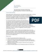 Fed Programs Syllabus Fall 2011