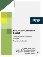Programa Indicativo Esc. y Contexto Social