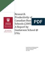 175244 Research Productivity Canadian Schools June 2011