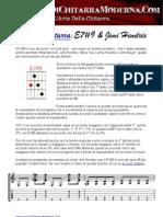 accordi chitarra - Il E7#9 & Jimi Hendrix