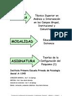 Teorias de La Configuracion Del Psiquismo Modulo I-Unidad 1