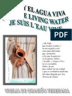 Folleto trilingüe de la Vigilia de Oración, Yo soy el Agua Viva, JMJ MADRID 2011