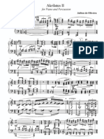 Akrilates 2 for Piano and Percussion - Parts