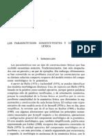 Santiago Alcoba. 1993. Parasintéticos