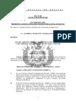 Ley 145 Ley del Servicio General de Identificacion Personal y de Licencias para Conducir