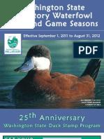 2011 WA Waterfowl Regulations