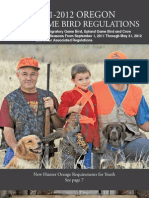 2011 Oregon Game Bird Regs