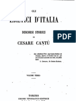 Gli eretici d'Italia, discorsi storici di Cesare Cantù, Vol.3, 1866