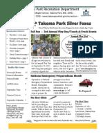Silver Foxes Newsletter - September 2011 from the Takoma Park Recreation Department
