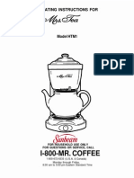 Mrs. Tea Operating Instructions (HTM1)