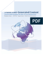 Master Thesis (2011) - Travel User-Generated Content