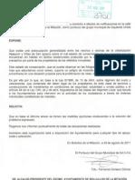 INSTANCIA de IULV-CA de Bollullos de La Mitacion en relacion al mal estado de Las Urb. ALJAQUIVIR y VILLAS de SAN IGNACIO 29 de Agosto 2011