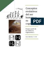 Conceptos evolutivos del ser humano y su cognición, por Betty Padilla.