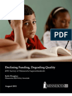 Declining Funding Degrading Quality