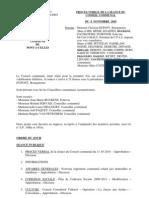 Conseil Communal de Pont-à-Celles du 8 novembre 2010