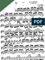 Paganini, Nicolo - Caprices, Violin (1-24)