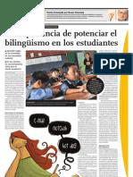 La importancia de potenciar el bilingüismo en los estudiantes