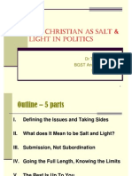 christian in politcs (salt and light)