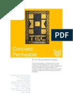 X-TEC ECOCONSTRUCCIONES - Concreto Permeable - Septiembre 2010