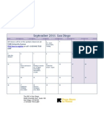 September 2011 Calendar- San Diego