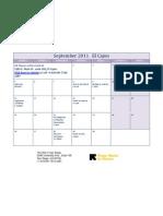 September 2011 Calendar- El Cajon