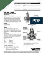 Catalogo Regulador Watts Mod 152-A