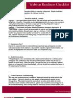 Webinar Readiness Checklist