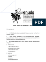 Edital de submissão de trabalhos IX ENUDS