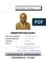 c.v de Mr Ebrottie Kouacou Directeur General Afrique de Agricaf (Mise a Jour Juin 2011)