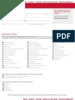 WPI Application Supplement