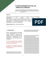 INTERPRETACIÓN PROBABILÍSTICA DE LOS ORBITALES ATÓMICOS