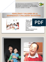 Educación Inclusiva_Valores y Funcion